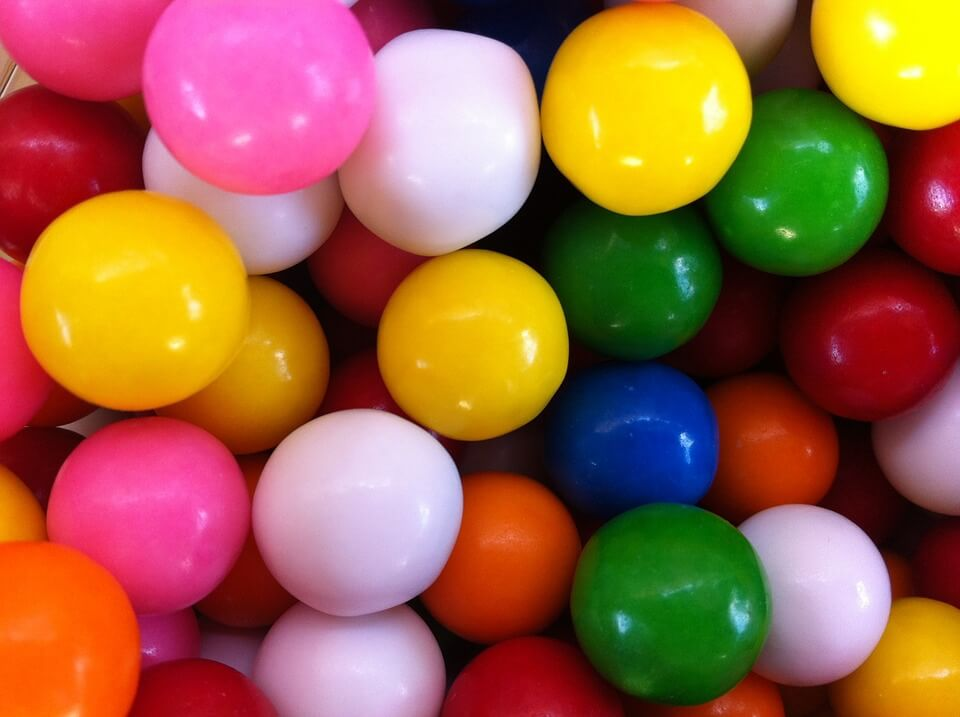 Colourful gum balls